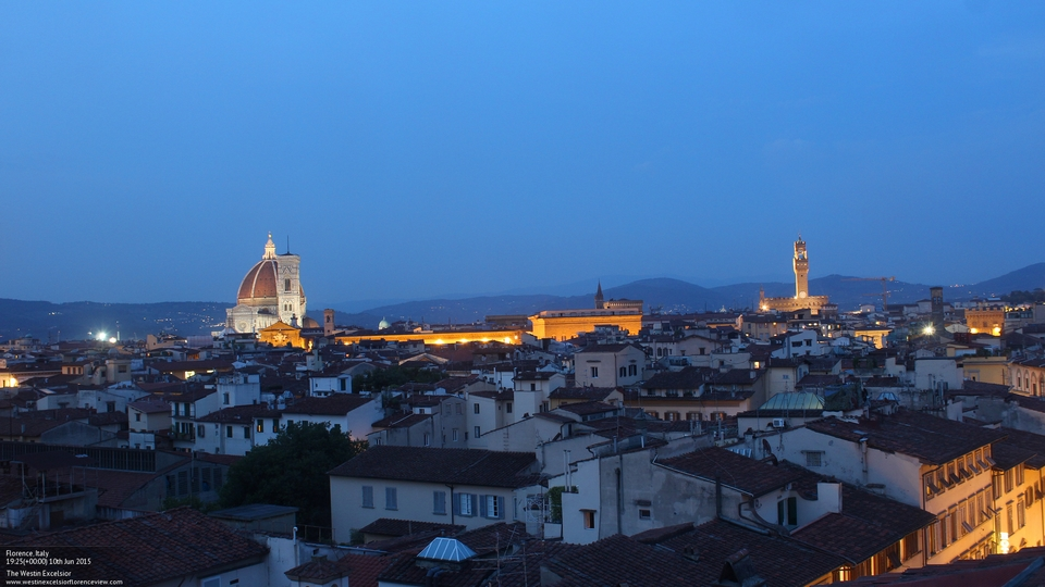 View of Florence by night