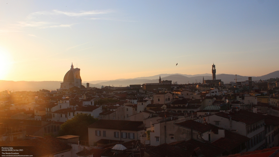 Sunset over Florence from the Westin Excelsior