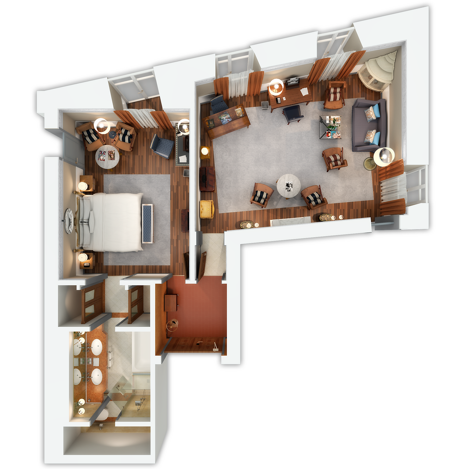 Grand Deluxe Suite floor plan
