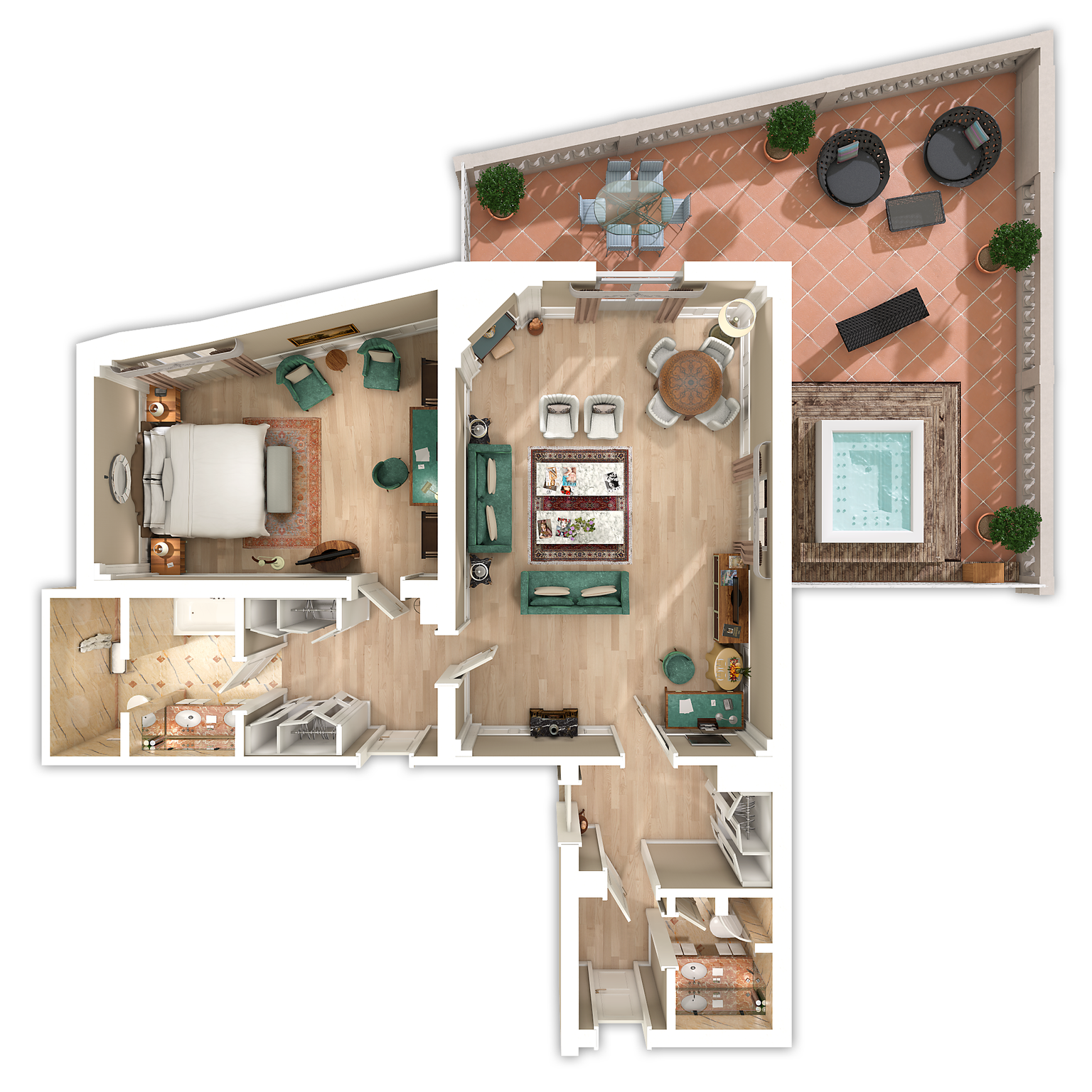 Presidential Suite floor plan